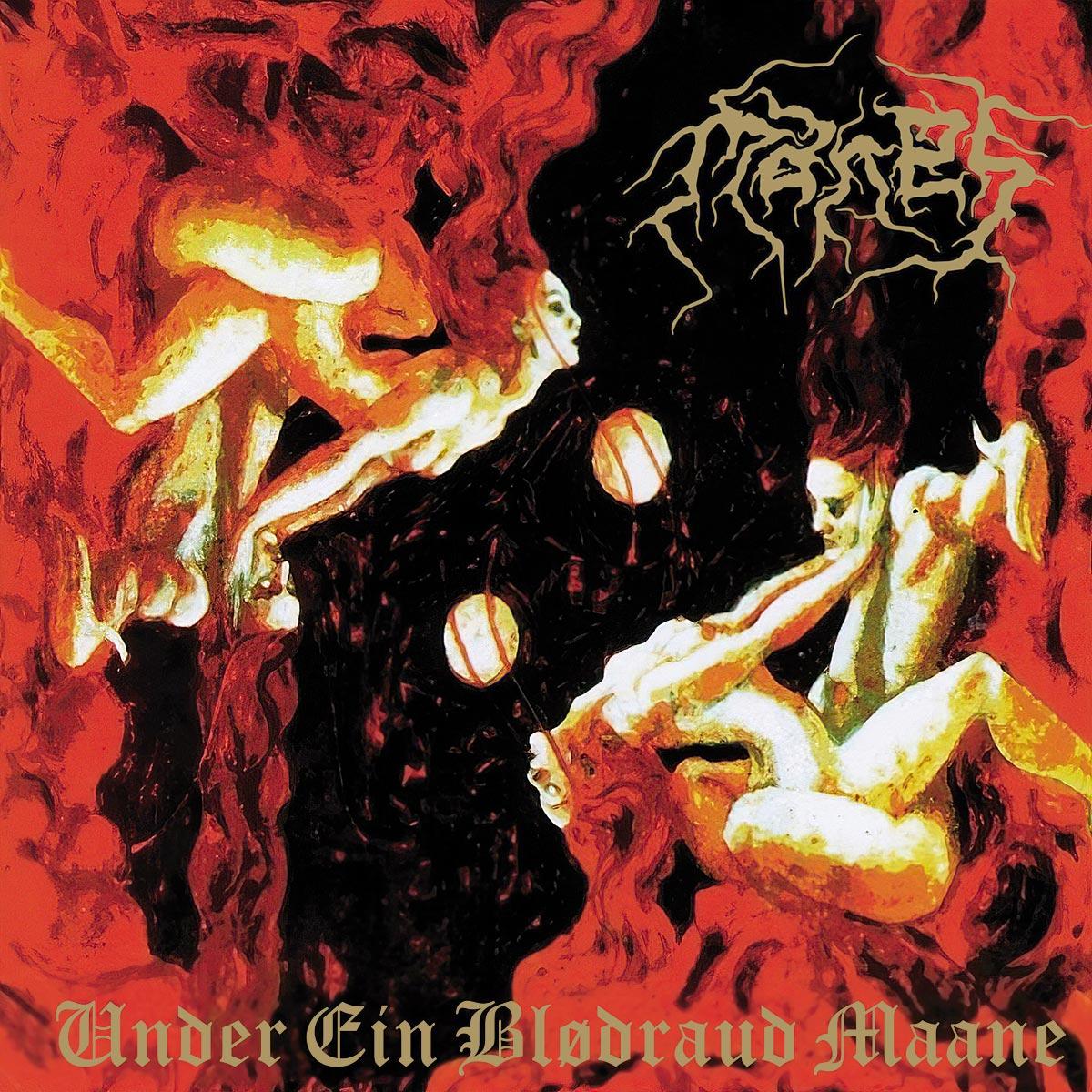 Manes - Under Ein Blodraud Maane (album cover)